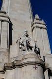 La statua Madrid di Cervantes Immagine Stock Libera da Diritti