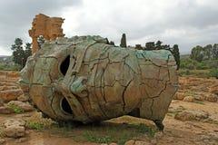 La statua nella regione archeological di Agrigento Fotografia Stock Libera da Diritti