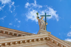 La statue à l'église de San Redentore à l'île Giudecca à Venise, Italie Images stock