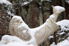 la statue épique de kalevala de héros vainamoinen Photo libre de droits