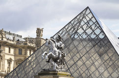 La statue équestre Photo libre de droits