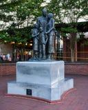 La statue afro-américaine de familles Image libre de droits