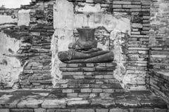 La statue cassée de Bouddha Photo libre de droits