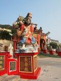 La statue colorée au temple d'igname de Kwun Photographie stock