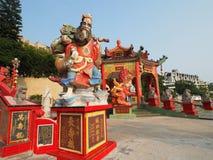 La statue colorée au temple d'igname de Kwun Image stock