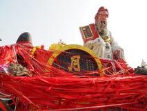 La statue colorée au temple d'igname de Kwun Images stock