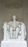 La statue d'Abraham Lincoln Photo libre de droits