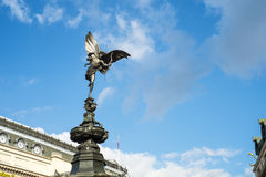 La statue d'Alfred Gilbert de l'eros dans Piccadilly Photos libres de droits
