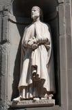 La statue d'Andrea Orcagna dans la galerie d'Uffizi à Florence en Italie Images libres de droits