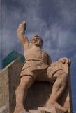La statue d'EL Pipilia donnent sur Guanajuato Mexique Photos libres de droits