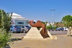 La statue d'un chameau dans le Sharm el Sheikh, Egypte photo stock