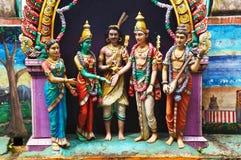 La statue d'un dieu chez Batu foudroie, la Malaisie Images libres de droits