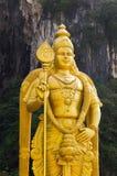 La statue d'un dieu Muragan chez Batu foudroie, Kuala Lumpur images libres de droits