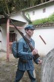 La statue d'un soldat d'arme à feu de transport dans le ¼ Œshenzhen, porcelaine de Parkï d'armée rouge Images stock