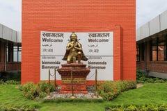 La statue dans l'aéroport, Katmandou, Népal Image libre de droits