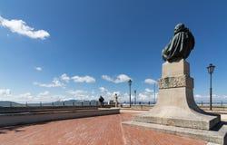 La statue de Bartolomeo Borghesi au Saint-Marin Image libre de droits