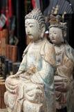 La statue de Bouddha. Image libre de droits