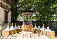 La statue de Bouddha dans le pavillon du Bhutan Photographie stock libre de droits