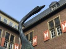 La statue de cygne photos stock