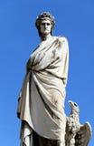 La statue de Dante Alighieri Images libres de droits