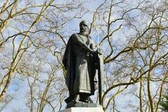 La statue de Dom Afonso Henriques à Portas font le solénoïde, Santarém, Portugal Photos libres de droits