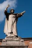 La statue de Girolamo Savonarola, Ferrare, Italie Image libre de droits