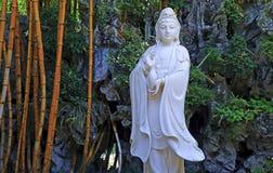 La statue de jade de l'avalokiteshvara Images libres de droits