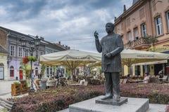 La statue de Jasa Tomic à Novi Sad, Serbie images stock
