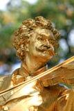 La statue de Johann Strauss Images libres de droits