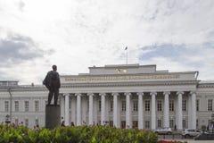 La statue de Lénine à l'université de Kazan, Fédération de Russie Image libre de droits