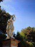La statue de l'abondance dans des jardins de Boboli à Florence Images libres de droits