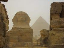 La statue de l'Egypte du sphinx Image libre de droits