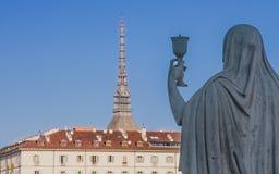 La statue de la foi, Turin Italie photographie stock libre de droits