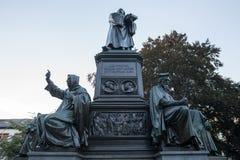 La statue de Luther worms l'Allemagne photos libres de droits