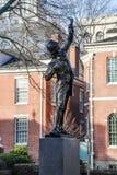 La statue de signataire à Philadelphie, Etats-Unis Photos stock