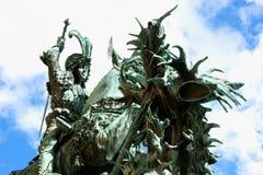 La statue de St George et le dragon et le x28 ; 1912& x29 ; dans la vieille ville Gamla Photo libre de droits
