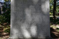 La statue de Thomas Paine est trouvée dans le Parc Montsouris - indépendance lit de ââ de '¬Å la «est mes bonheurs - 1737-1809  Images stock