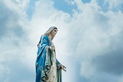 La statue de Vierge Marie Photographie stock libre de droits