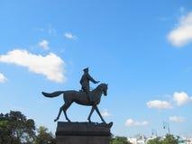 La statue de Zhukov à Moscou Photographie stock libre de droits