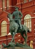 La statue de Zhukov de maréchal Images libres de droits