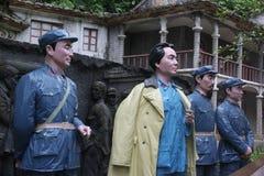 La statue des quatre chefs d'armée rouge dans le ¼ Œshenzhen, porcelaine de Parkï d'armée rouge Image libre de droits