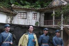 La statue des quatre chefs d'armée rouge dans le ¼ Œshenzhen, porcelaine de Parkï d'armée rouge Photos stock