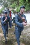 La statue des soldats d'arme à feu de transport dans le ¼ Œshenzhen, porcelaine de Parkï d'armée rouge Photos stock