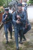 La statue des soldats d'arme à feu de transport dans le ¼ Œshenzhen, porcelaine de Parkï d'armée rouge Photographie stock libre de droits