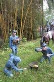 La statue des trois soldats à cuire dans le ¼ Œshenzhen, porcelaine de Parkï d'armée rouge Photographie stock
