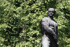 La statue des Vasa Carapic de Vasilije à Belgrade, connue sous le nom de dragon d'Avala était le commandant militaire serbe qui a Photographie stock libre de droits