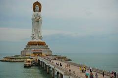 La statue du bodhisattva Guan Yin Images libres de droits