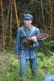 La statue du bois de transport de soldat dans le ¼ Œshenzhen, porcelaine de Parkï d'armée rouge Photographie stock libre de droits