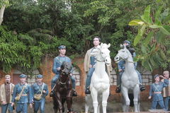 La statue du groupe d'A de chefs d'armée rouge dans le ¼ Œshenzhen, porcelaine de Parkï d'armée rouge Image stock