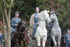 La statue du groupe d'A de chefs d'armée rouge dans le ¼ Œshenzhen, porcelaine de Parkï d'armée rouge Photographie stock